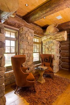A cozy sitting area is one of many nooks and niches in the home.