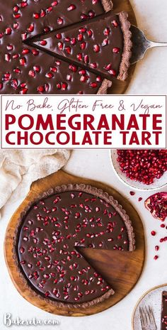Recipes Paleo There's few things I love more than a vegan tart for a holiday dessert recipe. This pomegranate chocolate tart is the ideal no bake party dessert because it's gluten free and paleo - Which makes it the ultimate healthy crowd pleaser! Dessert Party, Paleo Dessert, Dessert Sans Gluten, Party Desserts, Healthy Dessert Recipes, Delicious Recipes, Dessert Table, Easy Holiday Desserts, Christmas Desserts