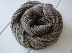 Handspun yarn BFL Blue Faced Leicester Oatmeal wool undyed