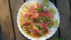 Tartine platter at Blue Dahlia in Austin, Texas Blue Dahlia, Hawaiian Pizza, Caprese Salad, Austin Texas, Platter, Ethnic Recipes, Apps, Food, Tuna
