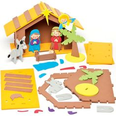 Nativity 3D Foam Stable Scene Kits for Children to Make - Perfect Christmas Decoration (Each) Baker Ross http://www.amazon.com/dp/B0148NTBWC/ref=cm_sw_r_pi_dp_r2Hqwb1J2FWVD