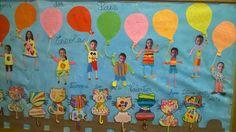 """painel """" Mensagem dos pais"""" no Regresso ao Jardim de Infância Vila de Frades"""
