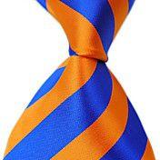 Man's Stylish Classic Stripes Woven Silk Neck... – USD $ 5.59