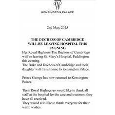 prince George is returned home to KP #princeGeorge #princeWilliam #duchessCatherine #royalbabygirl