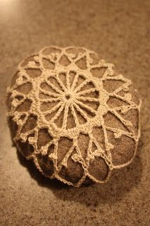 BriteCloud Creations: Crocheted Rocks..a little crocheting a rock information!