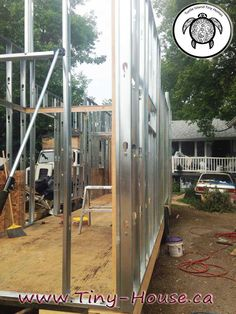 13- A closer look at the wall framing.  Pics form Turtle Island Tiny Homes.