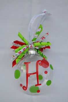 PERSONALIZED/MONOGRAMMED ORNAMENT by TipsyMollieDesigns on Etsy, $10.00