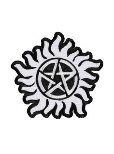 """<p>Protect yourself from demonic possession with this embroidered iron-on patch from <i>Supernatural</i>.</p>    <ul>  <li>3"""" x 2 3/4""""</li>  <li>Imported</li>  </ul>"""