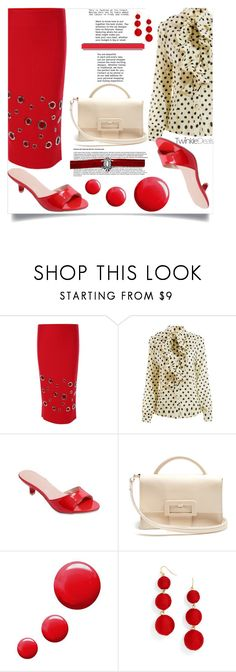 """""""Twinkledeals  42"""" by nejra-l ❤ liked on Polyvore featuring Maison Margiela, Topshop and BaubleBar"""