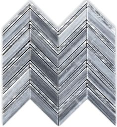 Bardiglio Gray Chevron 1x4 Honed Marble Mosaic Floor Wall Tile