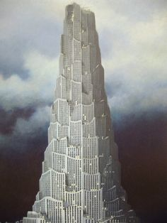 Minoru Nomata Minoru Nomata was born in 1955 in Tokyo, Japan. He graduated from the Design Department. Architecture Drawings, Futuristic Architecture, Classical Architecture, Architecture Images, Fantasy Places, Fantasy World, Claude Nicolas Ledoux, Tower Of Babel, Arte Popular