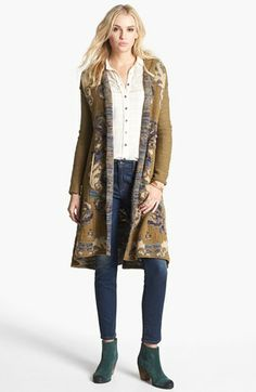 Free People 'After the Storm' Hooded Cardigan available at #Nordstrom