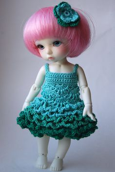 Flower Faerie - Mintleaves (Pukifee / Lati Yellow crochet dress)