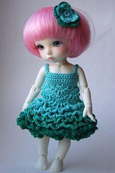 Flower Faerie - Mintleaves (Pukifee / Lati Yellow crochet dress)