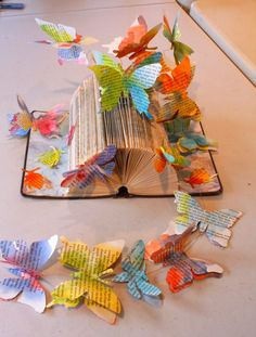 KJF DESIGN: Fly Away - Book Sculpture by Kendra