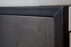 Von Sturmer - Raw steel to cabinet ends Steel, Cabinet, Design, Clothes Stand, Closet, Design Comics, Steel Grades, Cabinets