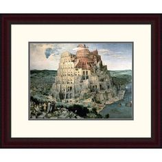 "Global Gallery 'Tower of Babel' by Pieter Bruegel the Elder Framed Painting Print Size: 19.82"" H x 24"" W x 1.5"" D"
