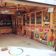 Barn Garage, Garage Bar, Garage Walls, Man Cave Garage, Garage Shop, Garage Design, House Design, Man Cave Inspiration, Cool Garages