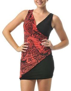 (CLICK IMAGE TWICE FOR DETAILS AND PRICING) Paisley Print Mini Dress Red-Orange. Balance your look by pairing this dress with black open toe heels, a clutch, and finish the look with a cuff bracelet.. See More Mini Dress at http://www.ourgreatshop.com/Mini-Dress-C90.aspx