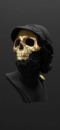 All black but gold on Behance