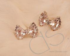 Sparkle Bowknot Crystal Stud Earrings http://www.dsstyles.com/product/sparkle-bowknot-crystal-stud-earrings