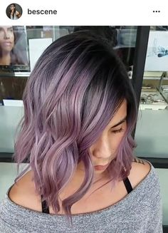 METALLIC MAUVE ▶️ Dark Gunmetal Base to Dimensional Metallic Mauve Balayage. Long bob haircut and color by Me! Using all @schwarzkopfusa & @brazilianbondbuilder #b3. Formula* Base: 5-12,6-12,E-1,0-22,2g 1-1. Mauve: 10-21,9.5-29, 0-11,0-99 all 7vol.  lived in tousled style by @hairbyapes #BESCENE