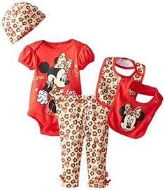 450f321d8a3a Disney Baby Girls  Minnie Mouse 5 Piece Set Animal Theme