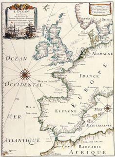 Map of Europe by Matthäus Merian, circa 1641