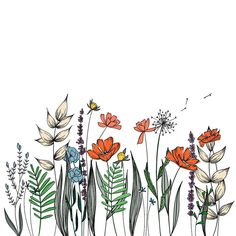 Wildflowers Line Drawing Wall Decor Botanical Illustration Wildblumen Strichzeichnung Wanddekoration Botanische Illustration The post Wildblumen Strichzeichnung Wanddekoration Botanische Illustration appeared first on Frisuren Tips - Tattoos And Body Art Wall Drawing, Plant Drawing, Art Drawings, Flower Drawings, Flower Art Drawing, Drawing Hair, Garden Drawing, Illustration Botanique, Illustration Blume