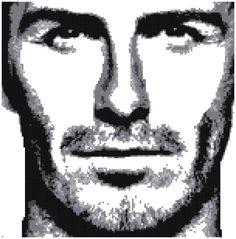 David Beckham - Counted Cross Stitch Pattern