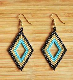 Earrings, en perles miyuki par Ccedille