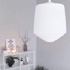 Scandinavian timeless white glass pendant Rihla - M. Syrjälä