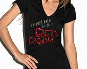 Glitter Ink - Unofficial Fifty Shades of Grey inspired shirt  - Meet Me In The Red Room -  womans cut tee - Saucy