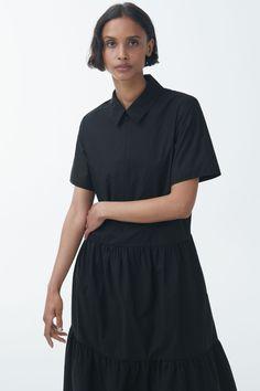 Cos Dresses, Black And Brown, Women Wear, Tops, Fashion, Fashion Styles, Shell Tops, Fashion Illustrations, Trendy Fashion