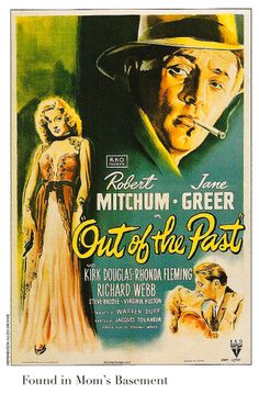 Out of the Past poster from 1947: Very cool noir.
