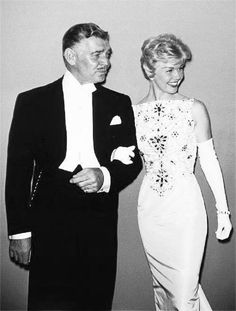 Clark Gable with Doris Day at The Academy Awards - 1958.