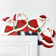 Türrahmendeko Santas, Holz Weihnachtsdekoration, Türdeko für Weihnachten, Santa   Möbel & Wohnen, Feste & Besondere Anlässe, Jahreszeitliche Dekoration   eBay!