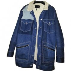 Patchwork jacket ISABEL MARANT (501,485 KRW) ❤ liked on Polyvore featuring outerwear, jackets, blue cotton jacket, blue jackets, isabel marant jacket, isabel marant and patchwork jacket