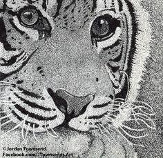 pointillism art | Tiger Pointillism by ~JTownsends-Art on deviantART