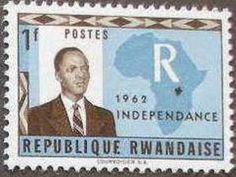 Stamp: Independence (Rwanda) (Independence) Mi:RW 3,Sn:RW 3,Yt:RW 3,Bel:RW 3