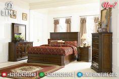 Tempat Tidur Minimalis Jepara Kayu Jati Natural Salak Model Laci TTJ-0921