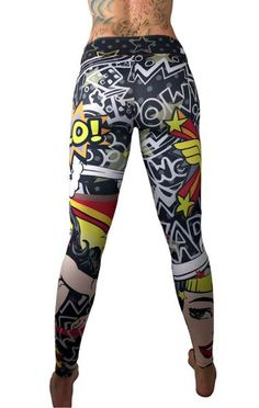 S2 Activewear - Wonder Woman Pop-Art Leggings - Roni Taylor Fit  - 2