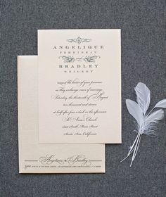 Blush Pink Wedding Invitation, Simple Wedding Invitation, Vintage Wedding Invitation, Custom Invitations -  Angelique and Bradley by LamaWorks on Etsy https://www.etsy.com/listing/150287985/blush-pink-wedding-invitation-simple