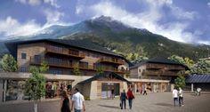 Perspective 3D d'extérieur - Projet Immobilier en Savoie - Les Contamines, Coeur de village