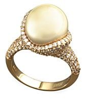 EFFY Collection 14k Gold Ring, Cultured Golden South Sea and Diamond (1-3/4 ct. t.w.) Ring