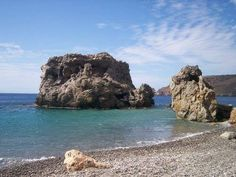 Trademark rock @Sougia beach in Crete