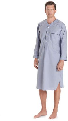 1bd5987325 Brooks Brothers Wrinkle-Resistant Broadcloth Nightshirt. A cool and  comfortable men s ...