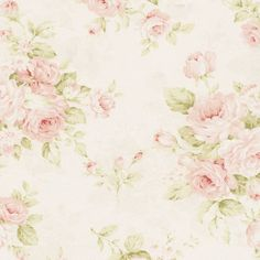 Pink Floral Fabric  By The Yard  Floral by CarouselDesignsShop