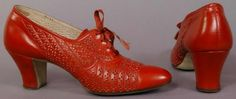Shoes 1930, American, Made of leather