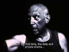 """Séquence d'introduction du film """"Le mystère Picasso"""" d'Henri-Georges Clo..."""